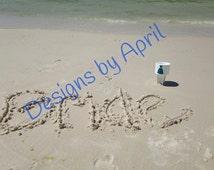 BRIDE Beach Spike or Drink Holder - .Personalized Monogram Beach Spike Beverage