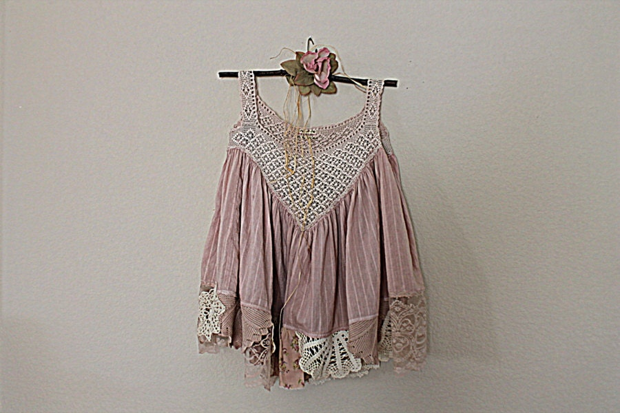 vintage lace top upcycled s clothing altered