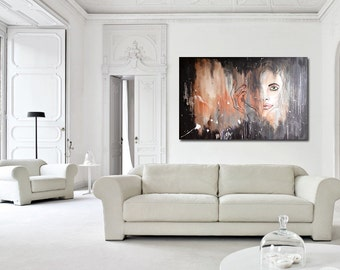 "Poise - Original Modern Abstract Contemporary Art Painting - Size: 36"" x 24"" Acrylic on Canvas by A.J. Wesolek"