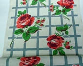 Startex Rose Bolt Fabric Dish Towels Runner Curtian Vintage Material 1 Yd.