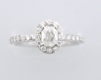 1.00 ct Oval Diamond Engagement Ring