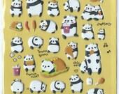 Japanese/ Korean Puffy Stickers - Panda Burger