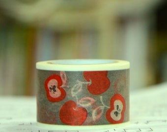 1 Roll of Japanese Washi Tape Roll- Apples
