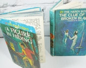 The Hardy Boys. Vintage Hardback Set of Two. Circa 1965 and 1970. Children's Mystery Stories. Nursery Decor.