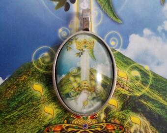 Tarot Illuminati Cabochon Pendant (small) - Minor Arcana - choose your design