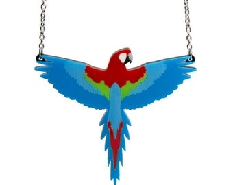 Parrot necklace - laser cut acrylic