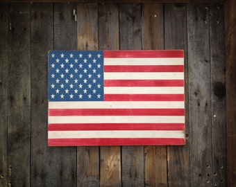 American Flag ~Wooden