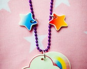 Kawaii/Baby Kei Cloud Necklace