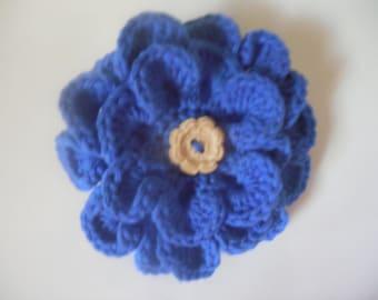 Blue Flower Hair Clip, Floral Barrette, Pretty Hair Bows, Hair Clips for Girls, Women's Boho Hair Accessories
