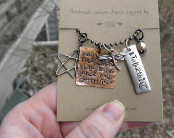 Daughter Necklace, Enjoy Life Necklace, Dragonfly quote