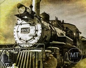 Fine Art Photo Antique Train Engine