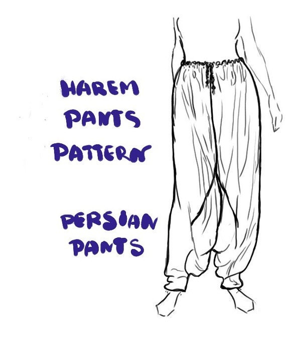 harem pants template - harem pants instant download pdf sewing pattern aladdin
