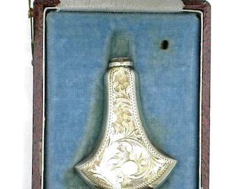 Vintage Sterling Silver Perfume Bottle With Vintage Box