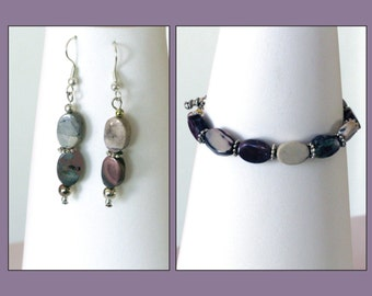 Lilac Accents Bracelet & Earring Set