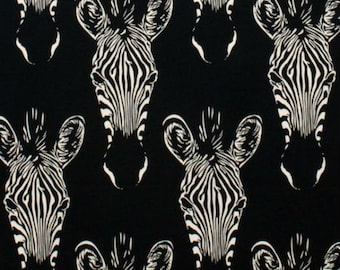 Alexander Henry Africa Collection Zahara Zebra's on Black 1 Yard Cut