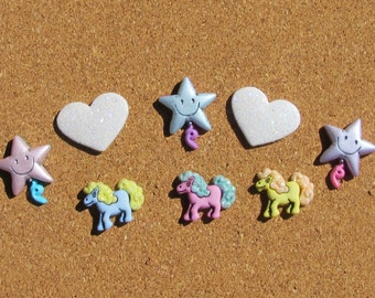 Pony Love  Push Pins or Magnets