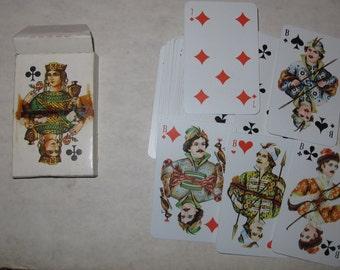 Vintage european playing cards