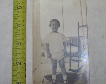 vintage b/w/ black and white photo photograph baby girl