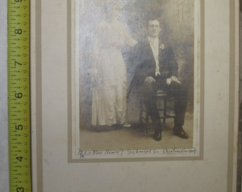 vintage b/w/ black and white photo photograph handsome couple