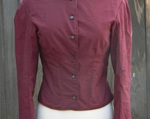 Victorian Day Bodice Cotton Long Sleeve Steampunk Blouse Historical Costume Top