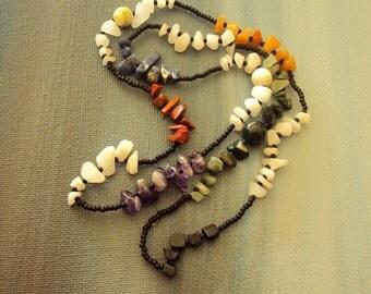 Stone Chakra Zen Stone Stretch Bracelet Necklace