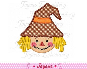 Instant Download Boy Scarecrow Applique Embroidery Design NO:1536