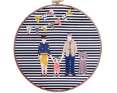 Personalized Embroidery Hoop Family Portrait