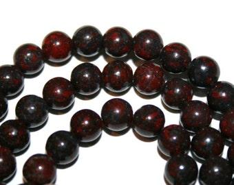 6 mm Poppy Jasper Gemstone Round Beads