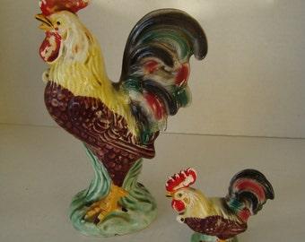 Vintage Rooster Set