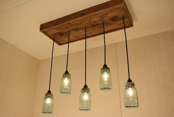 bocal conserves lustre mason bleu antique par bornagainwoodworks. Black Bedroom Furniture Sets. Home Design Ideas