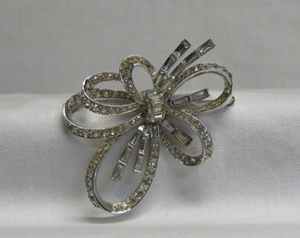 Marcel Boucher Brooch Vintage 1950's No. 3370 Large Bow