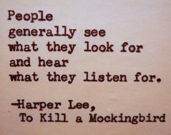harper lees novel to kill a mockingbird told from scouts point of view A teacher's guide to harper lee'sto kill a mockingbird 4 ccssela-literacyw810 write routinely over extended time frames (time for research, reflection, and revision) and shorter time frames (a single sitting or a day or two) for a range of tasks, purposes, and audiences.