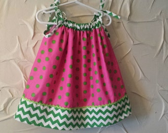 SALE  Pink and green sundress inspired by watermelon; Babies to size 8