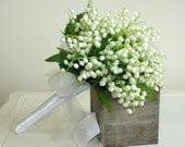 items similar to wedding bouquet bridal bouquet lily of the valley wedding bridal bouquet on etsy. Black Bedroom Furniture Sets. Home Design Ideas