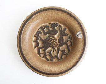 Vintage // Marianne Starck // Michael Andersen // Tray faun motif // Danish ceramic // Danish modern // Denmark