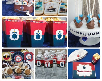 Titanic Inspired Party - The unsinkable Party Collection - Navy Party - Printable Party - PDF