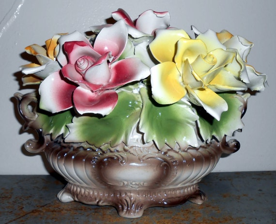Vintage Capodimonte Centerpiece Made In Italy Porcelain