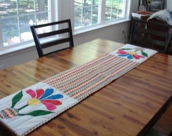 Mexican Rose Table Runner