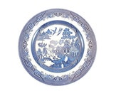Vintage Churchill Blue Willow Dinner Plate Made in England