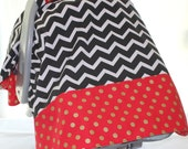 Car Seat Canopy - San Francisco 49ers color themed