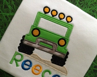 Toddler Boys Clothes, Personalized Boys Shirt With Jeep Birthday Theme