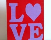 Personalized Love wooden picture