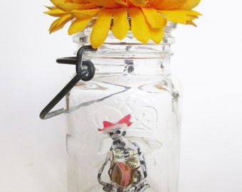 Fairy In A Jar - Jane (Made with Real Cicada Wings)