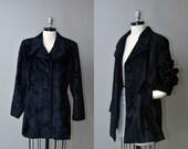 SALE Vintage Henri Bendel Coat //1990s Designer Coat // 90s Faux Fur Coat