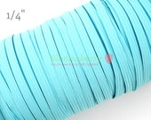 "5 or 10 Yards 1/4"" Skinny Elastic - Turquoise Color - Turquoise Skinny Elastic - Hair Accessories Supplies"