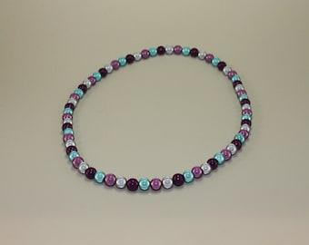 Purple Lagoon Beaded Necklace