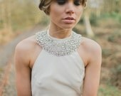 Flower Garden - Couture Crystal Tulle Collar - As seen in Rock My Wedding