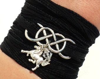 Infinity Silk Wrap Bracelet Horse Jewelry Equestrian Eternity Love Unique Gift For Her Mothers Day Daughter Under 50 Item M4