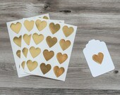 Gold Heart Stickers - The TomKat Studio