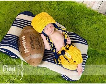 Michigan Helmet and Diaper Cover Set